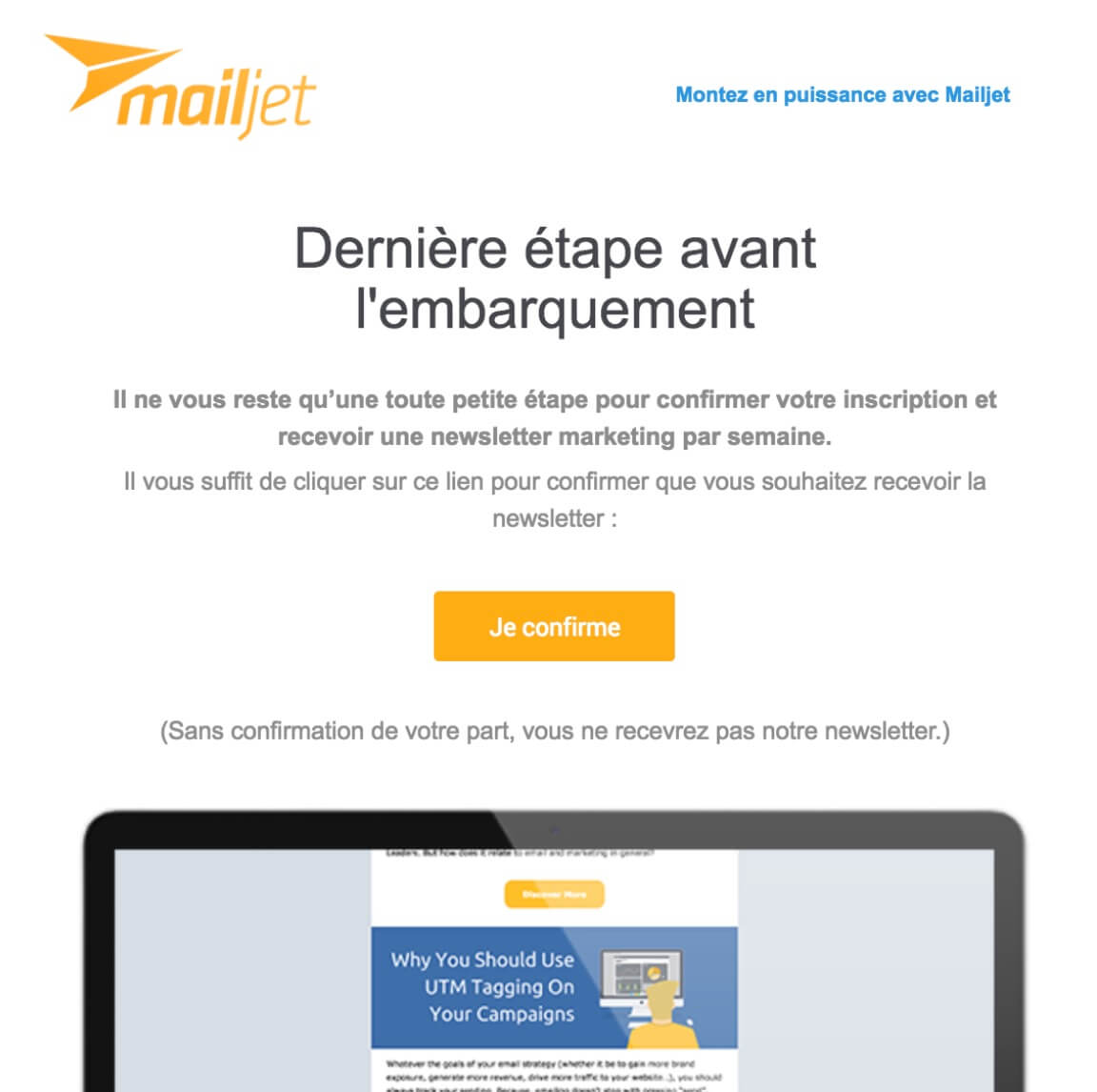 Newsletter Mailjet opti-in LeDigitalizeur