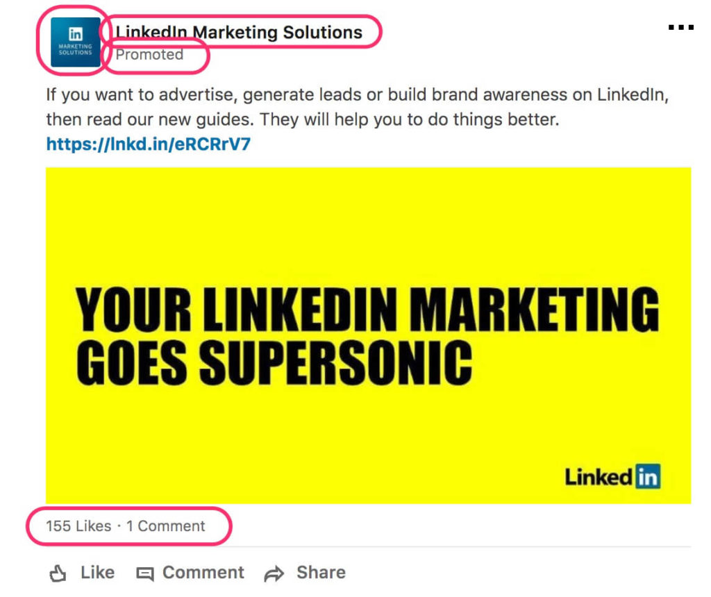 exemple Linkedin ads LeDigitalizeur