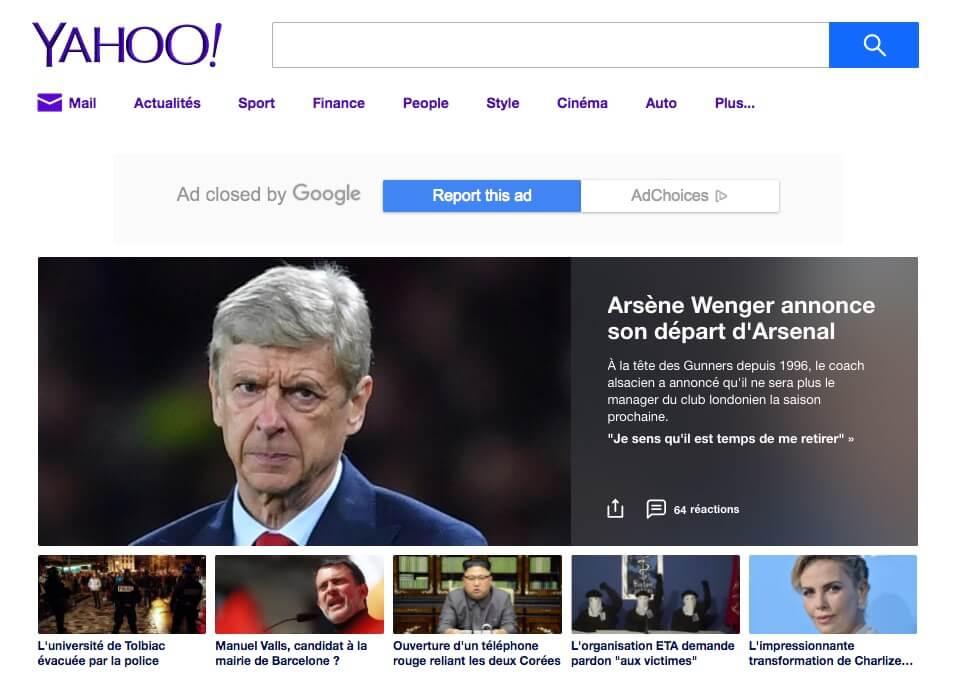 Moteur de recherche Yahoo
