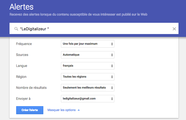 Google Alerte 3 LeDigitalizeur