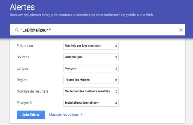 Google Alerte 3 LeDigitalizeur