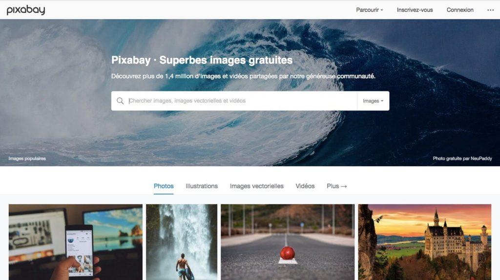 pixabay homepage