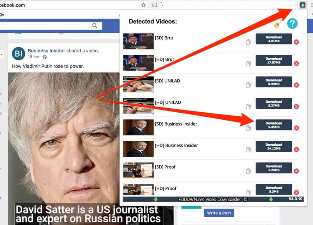 Télécharger video fb