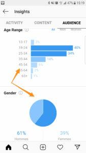 Statistiques Instagram Audience