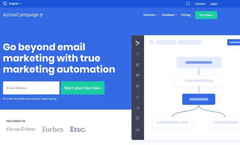 logiciel emailing ActiveCampaign