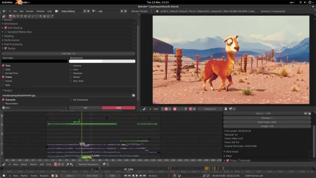 Blender - Logiciel de montage vidéo