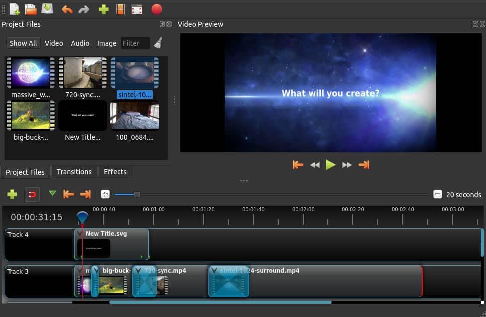 logiciel de montage vidéo OpenShot