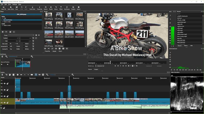 ShotCut - Montage vidéo simple et gratuit