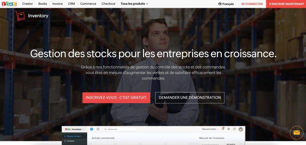 zoho gestion stock