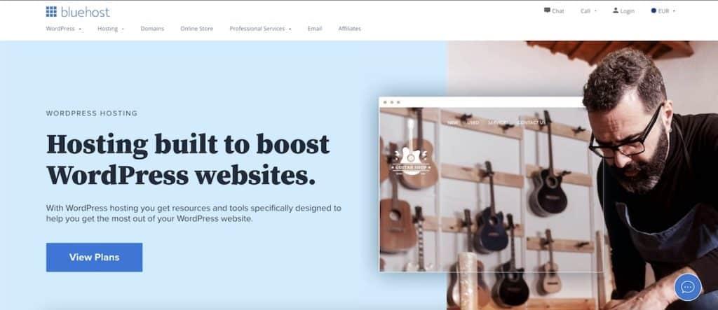 bluehost hébergeur WordPress
