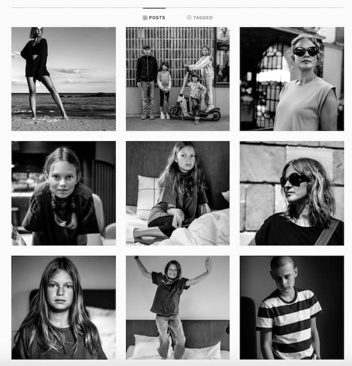 flux instagram monochrome