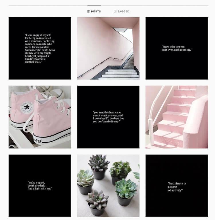 Feed Instagram damier